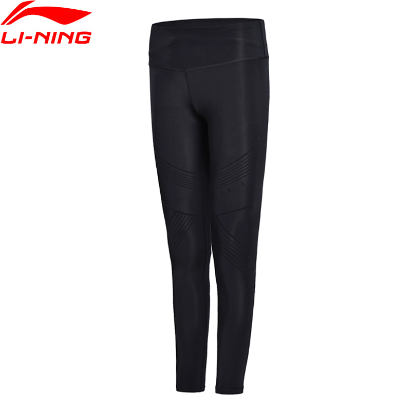 Li Ning Women Professional Running Layer Pants Interlock Tight Fit Jogger LiNing Sports Pants AULN002 WKY156
