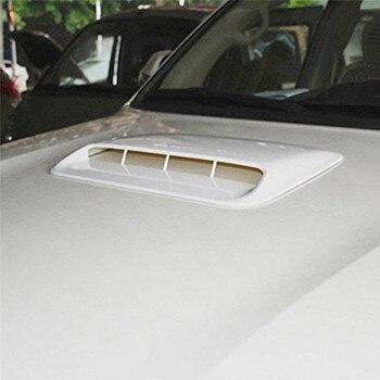 Cuchara de entrada de flujo de aire decorativa Universal plata/Blanco/Negro cubierta de ventilación del capó Turbo estilo del coche