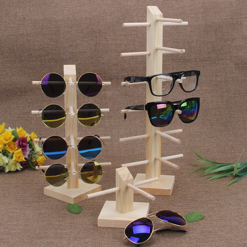 TONVIC Wood Display Stand For Sunglass 3D Glass Glasses