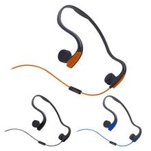 3.5Mm Beengeleiding Headsets Wired Oortelefoon Buitensporten Hoofdtelefoon Ruisonderdrukking Handsfree Met Microfoon Voor Smartphones