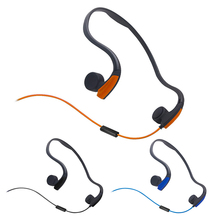 3.5mm Bone Conduction Headsets Wired Earphone Outdoor Sports Headphones Noise Reduction Hands Free with Mic for Smart Phones