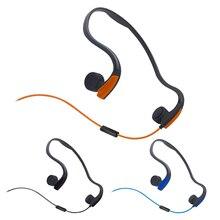 3.5mm kemik iletim kulaklık kablolu kulaklık açık spor kulaklıklar gürültü azaltma Hands Free Mic ile akıllı telefonlar için