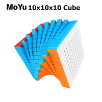 MoYu Cubing Classroom Meilong 10x10x10 Magic Speed Cube Stickerless Puzzle Cube Educational Toys For Children