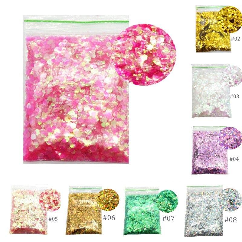 Neueste Kollektion Von Nail Art Glitter 3d Nail Art Glitter Mix Größen 1 Mm/2 Mm/3 Mm 50 Gr/beutel Nagel Glitter Pailletten Paillette Für Nail Art Glitter 60pdl
