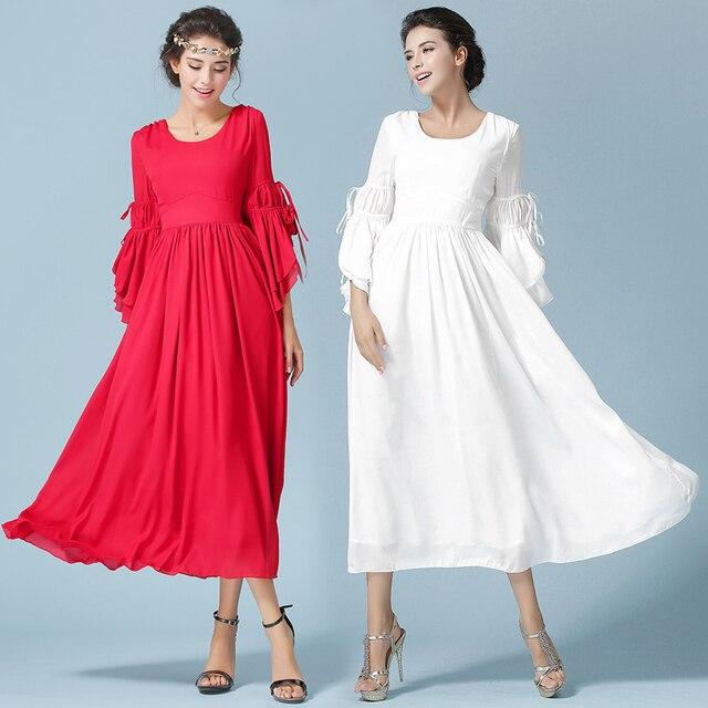High waist maxi dresses for women