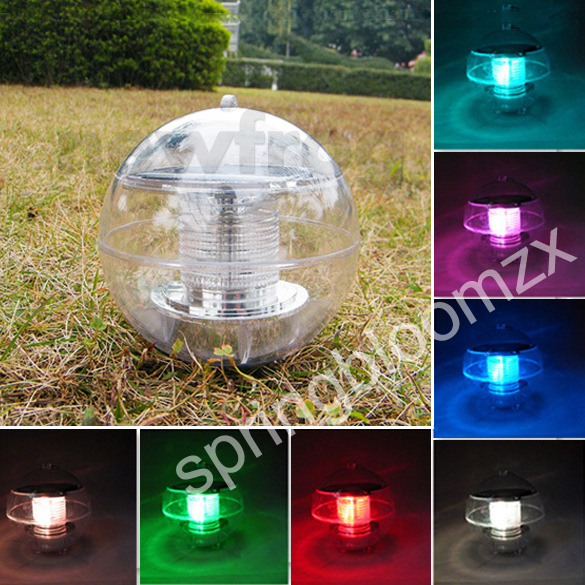 Outdoor Solar Power Floating Rotate 7 Colors Changing Led