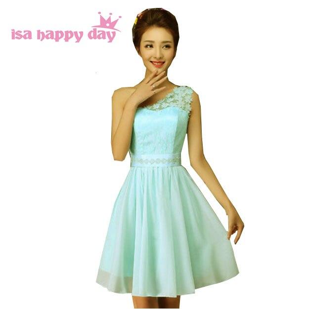 Kurze einbau formale chiffon hellblau robe schulter vestidos de ...