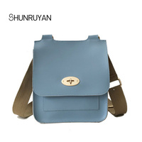 SHUNRUYAN 2018 Famous Brand Design Women Bag New Hasp Elegant Ladies Crossbody Bag Messenger Bag Shoulder Bag