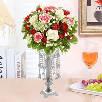 53CM Height Acrylic wedding centerpiece flower stand Luxury Crystal Wedding decorations party decorations