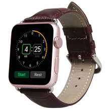 TOROTOP 2017 New Wristband For APPLE WATCH 42MM 38mm BANDS Adapters Crocodile Pattern LEATHER STRAP For