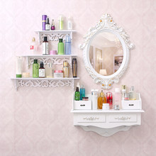 European modern minimalist small apartment mini wall dressing table mirror garden bedroom dressing table(China)