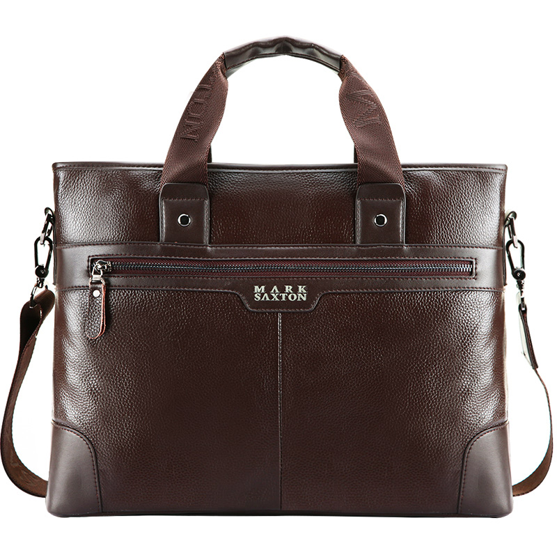 2017 New Fashion Genuine Leather Men Bag Famous Brand Business Shoulder Bag Messenger Bags Causal Handbag Laptop Briefcase Male