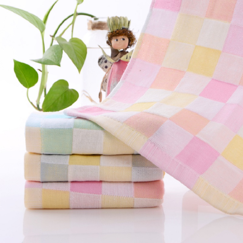 Купить с кэшбэком 25 *50 cm Soft Cotton Baby Towesl Newborn Washcloth Infant Bath Towel Soft towels Printing Child Hand&Face Towel Baby Kids Towel