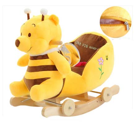Balançoire bébé peluche cheval jouet chaise à bascule bébé videur bébé balançoire siège extérieur bébé pare-chocs enfant Ride On jouet poussette à bascule jouet - 4