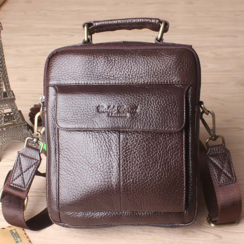 Famous Brand Men Handbag Genuine Leather Business Tote Bag High Quality Male Satchel Casual Crossbody Messenger Shoulder Bags