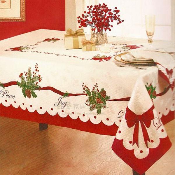 Xmas Table Linen Part - 21: Homewear Table Linens Peace Joy Christmas Embroidery Table Runner Super  Long Satin Tablecloth Xmas Table Flag