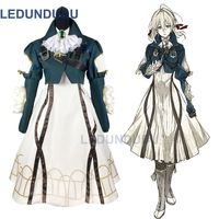 New Hot Violet Evergarden Cosplay Costume Auto Memory Doll Cosplay Clothes Maiden Dress Halloween Party Fancy Outfit Set