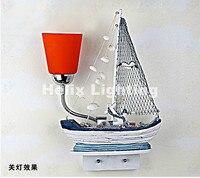 Newly Children Wall Lamp Mediterranean sea style wall lamp Children room wall light bedside lamp LED Children Wall Lamp Lighting