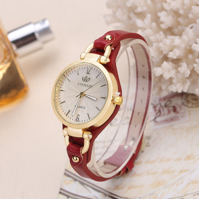 Hot Brand Quartz Watch For Women Thin Leather Casual Gold Bracelet Wrist Ladie W