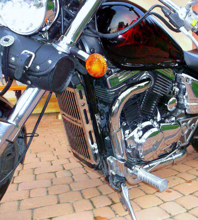Motorcycle Steel Chrome Radiator Guard Grill Engine Cover
