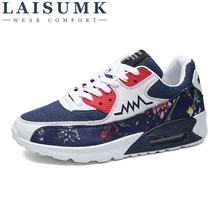 LAISUMK Man Breathable Shoes For Men Sneakers Bounce Summer Outdoor Professional Brand Designer