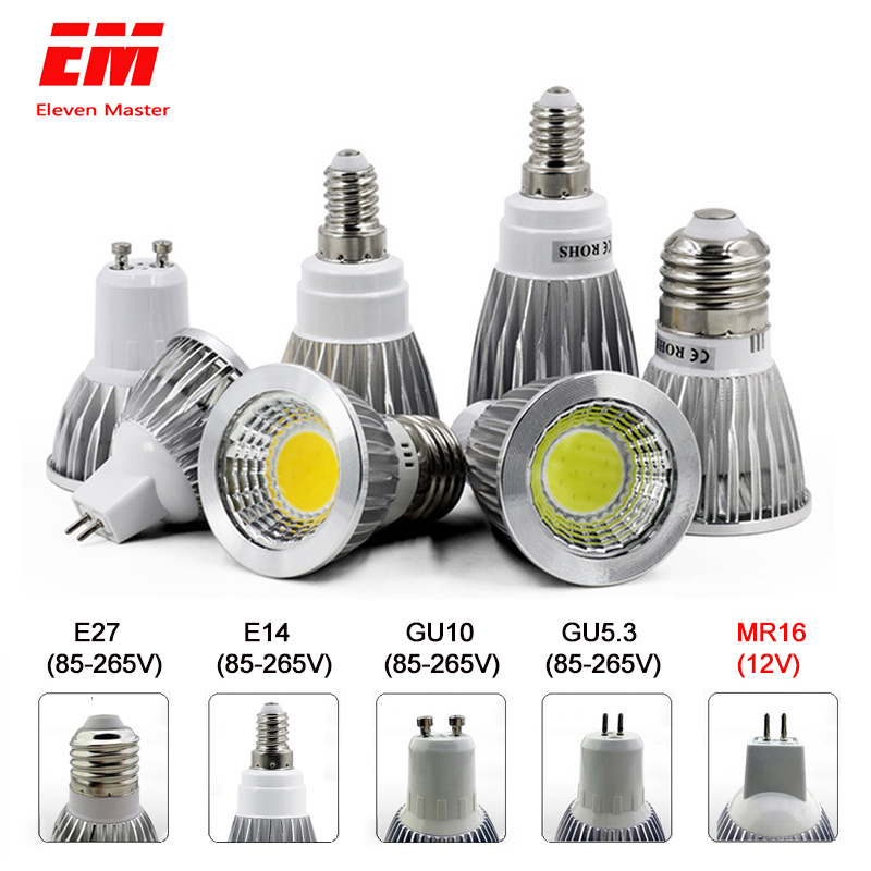 LED Lamp GU10 MR16 E14 GU5.3 E27 LED Bulb 3W 5W 7W 220V Lampada LED Condenser Lamp Diffusion Spotlight Home Lighting ZDP0001