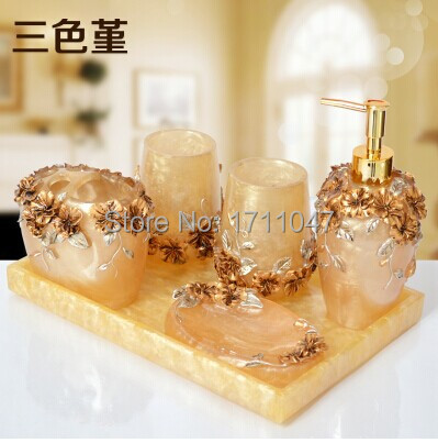 free-shipping-6-pieces-set -eating-standard-best-resin-material-european-luxurious-fancy-bathroom- accessories-bathroom