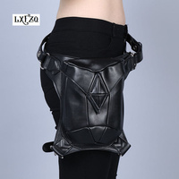 Shoulder Backpack leather women bag Steampunk bag Holster Purse carteras mujer bag thigh Motor leg Outlaw Pack Pocket fanny pack