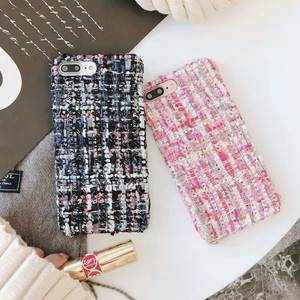 Fashion pink fabric small fragrance phone case for iphone Xs Max XS XR X three three