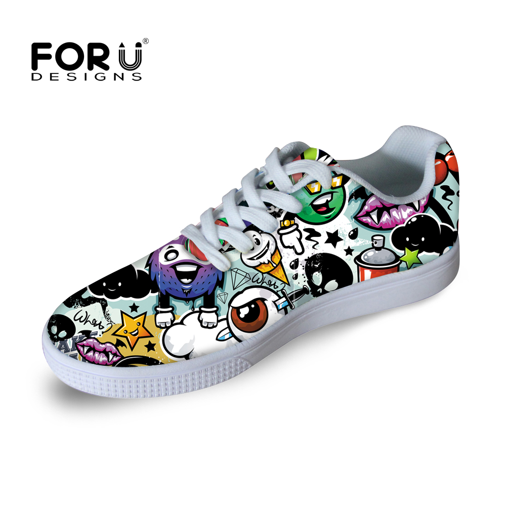 Skate shoes price - Forudesigns Spring Autumn Men Casual Shoes Outdoor High Fashion Men Graffiti Skate Shoes For Youth Students