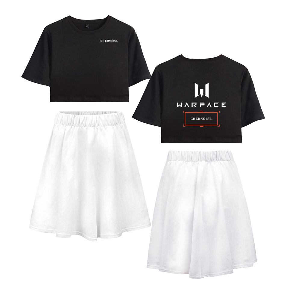 2019 CHERNOBYL Short Skirt Short Sleeve T-shirt And Short CHERNOBYL Skirt Suit Two Piece High Quality Casual New Set Summer