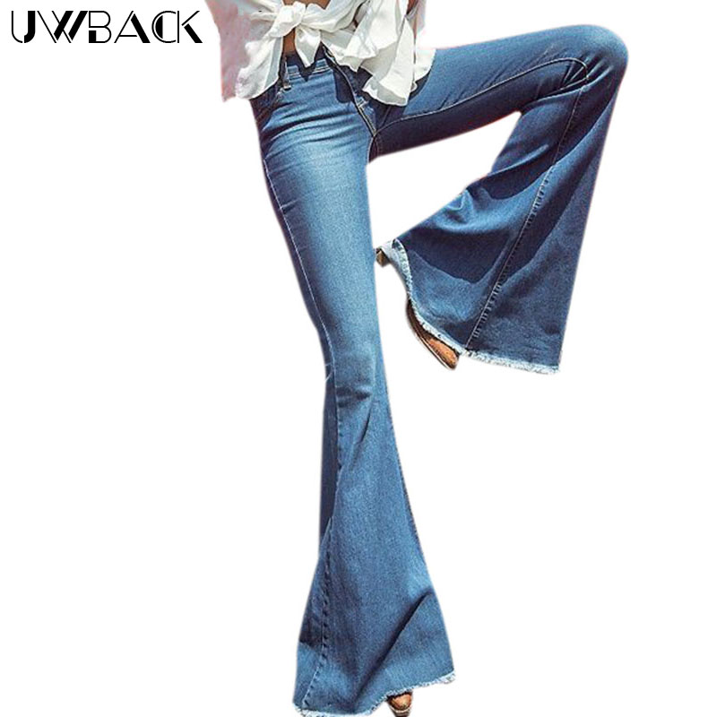 Uwback Flare Jeans Women 2017 New Brand Skinny Flared -4240