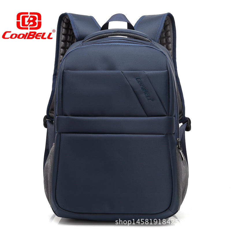 Cool Bell Men Women Backpack Waterproof Shockproof Breathe External USB 15.6 inch Computer bag for Business Travel Student bag