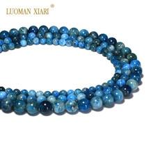AAA+ натуральный первоклассный Апатит полудрагоценный камень бусины для самостоятельного изготовления ювелирных изделий браслет ожерелье 6/8/10/мм нить 15,5''