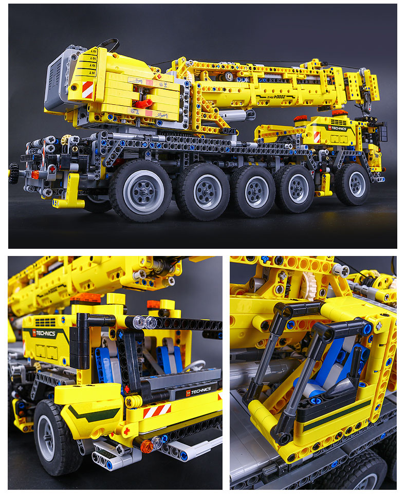 DHL 20004 Technic Motor Power Mobile Crane Mk II Model Building Kits Blocks Bricks Birthday Compatible with Legoings 42009 Toys 20