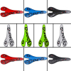 Bicycle Matte Carbon Saddle Time 3k Full Carbon Fibre Cycling MTB Road Bike Seat Bicyle Parts