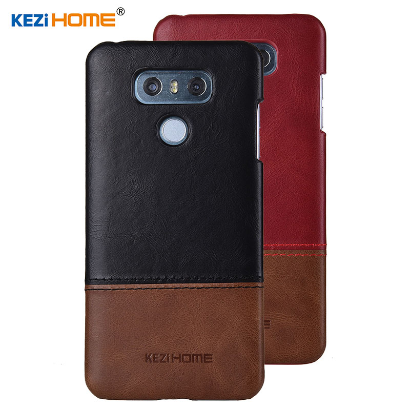Case for LG G6 KEZiHOME Luxury Hit Color Genuine Leather Hard Back Cover capa For LG G6 5.7'' Phone cases