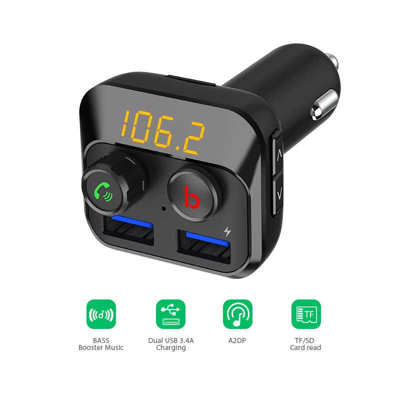 VANJEW BT201D Phát FM Xe Hơi rảnh Tay Bluetooth cho Xe hơi FM Bộ Điều Chế Bộ Phát FM Bluetooth 5.0 Sạc Xe Hơi MP3 người chơi