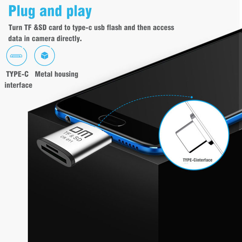 Image 4 - Type C card reader for Micro SD and SD card 2 in 1 USB C card reader CR011-in Card Readers from Computer & Office