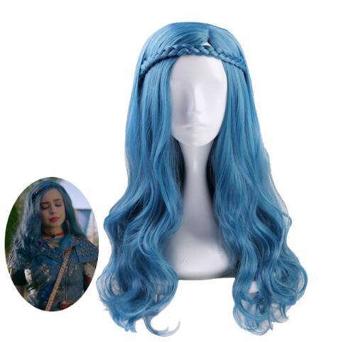 Anilnc Long Wavy Costume Synthetic Descendants 2 Evie Wigs+Wig Cap
