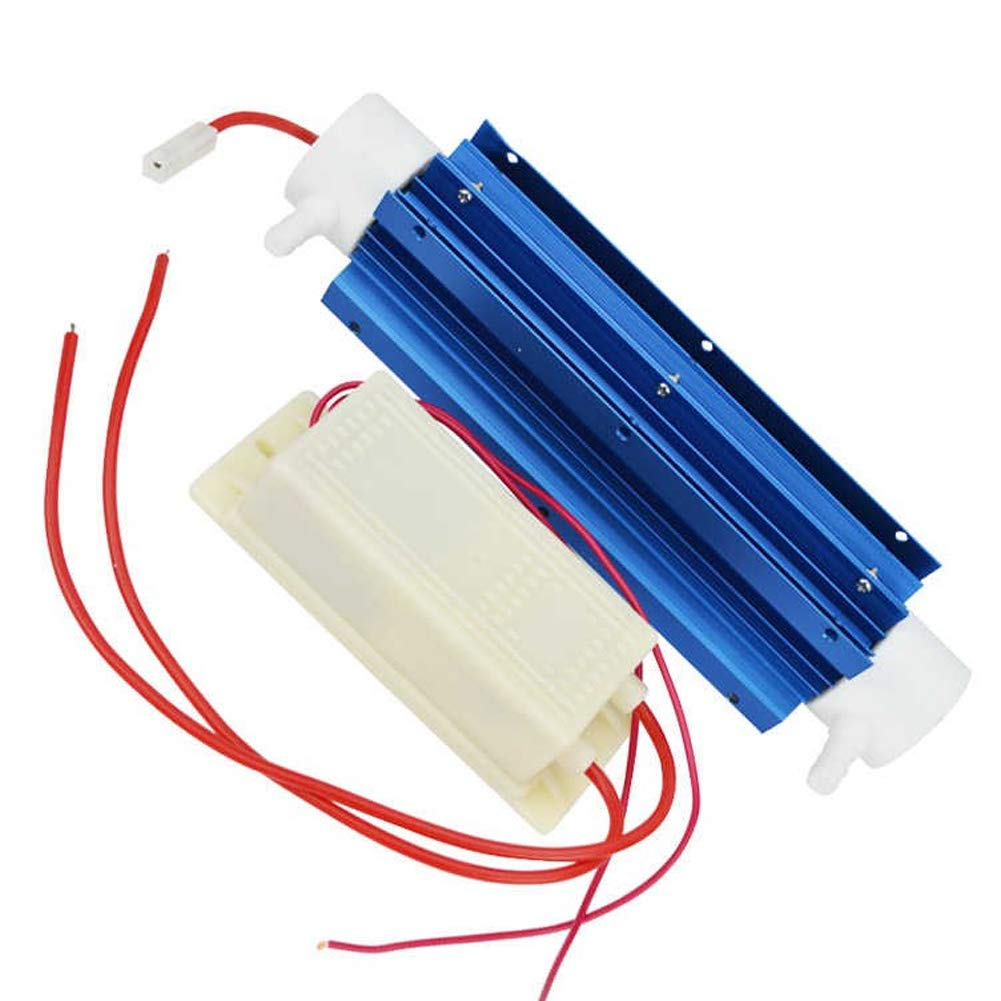 220V 10G Ozone Generator Tube Air Purifier Water Treatment Quartz Tube + Power Supply for DIY Water Plant Purifier
