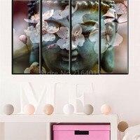 Горячие Продажи Будды Лицо Современные Украшения Дома Картина На Холсте Unframed Peach Blossom Фон Будды Настенные Росписи