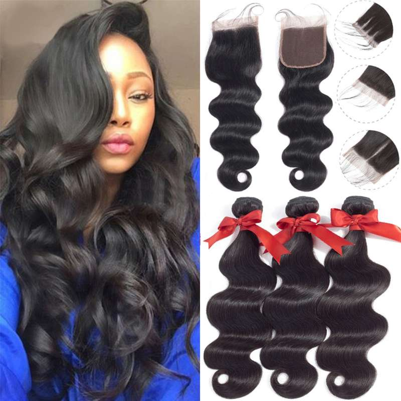 Popular Brand Alot Afro Kinky Curly Weave Human Hair Bundles With 360 Lace Frontal Closure Non-remy Malaysia Hair 3 Bundles With Closure 4 Pcs Elegant In Smell Hair Extensions & Wigs