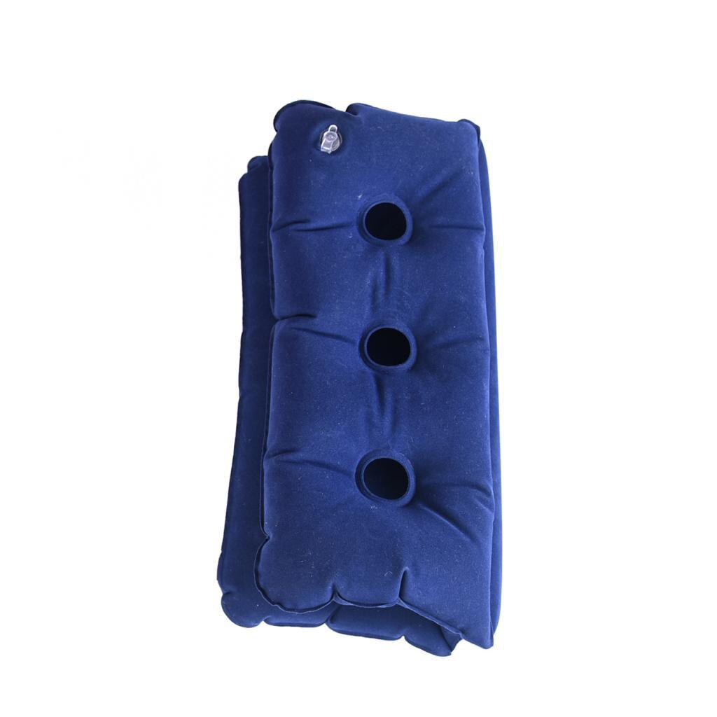 Foldable Wheelchair Pillow Air Inflatable Cushion Seat Chair Pad Dark Blue Purple