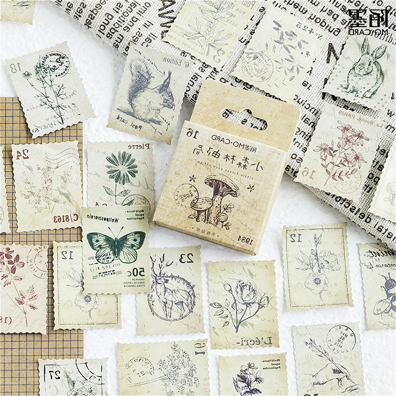45pcs/pack lovely notebook Cute post office Pattern Planner bullet diary office Supplies Halloween Thanksgiving gift(China)