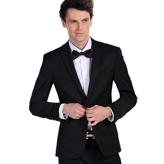 Suit male slim suit one button sword black male small suit jacket