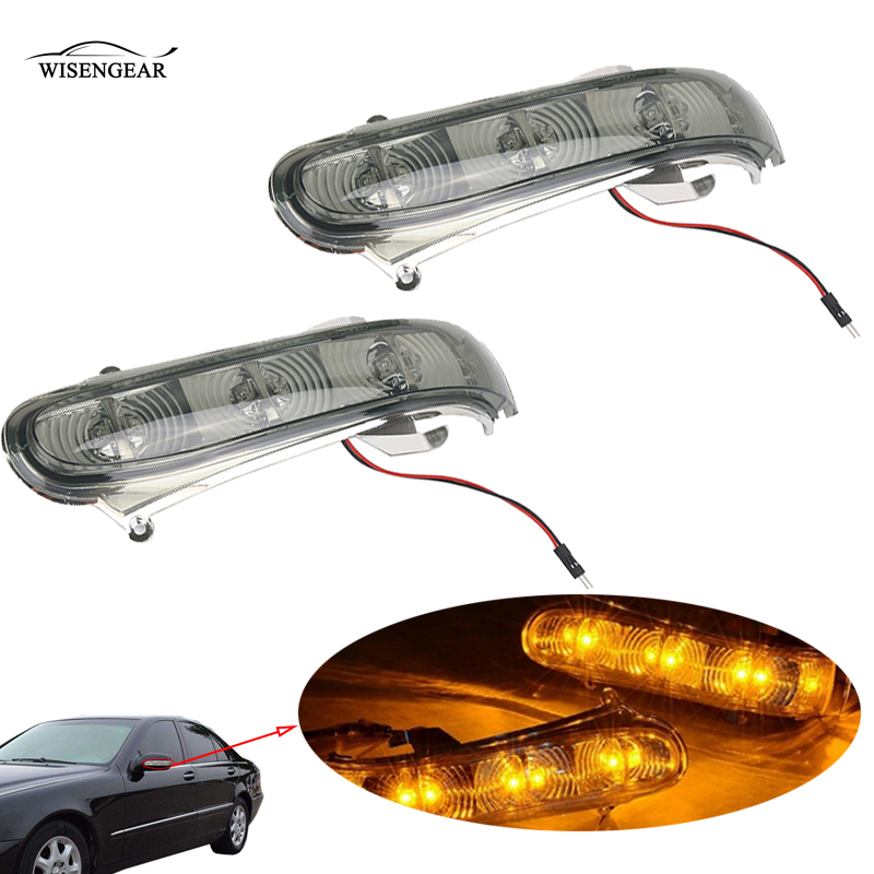 WISENGEAR LED Lens Turn Signals Light For Mercedes Benz W220 W215 CL600 CL500 S500 S CL Class 1999-2003 Side Rearview Mirror /