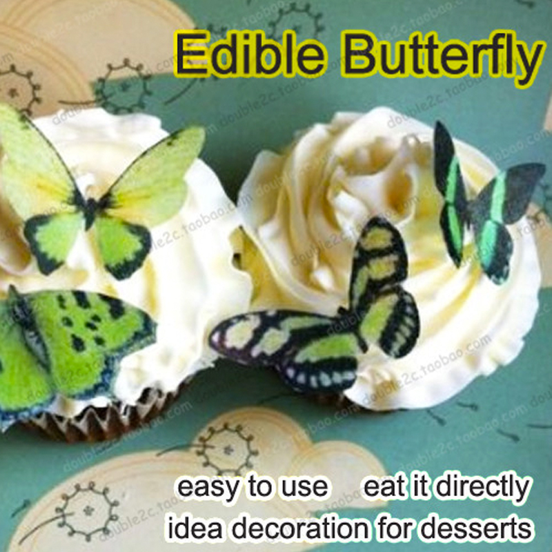 34pcs/lot Edible Butterfly For Easter Cake Decoration 3D Idea Decorating Tools,Cakes Stand Birthday Party Kitchen Supply