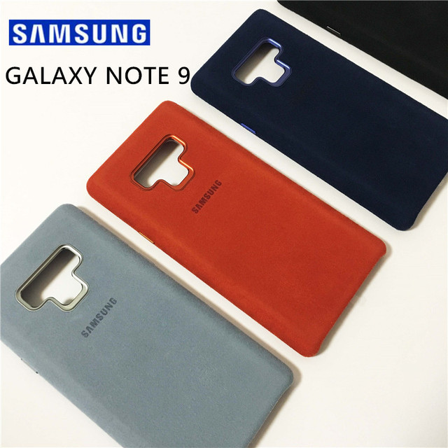 super popular 7d289 a2a0a US $25.89 |New Original Samsung Galaxy Note 9 SM N9600 Alcantara Phone  Cover Luxury Leather Fundas Coque Anti wear Shockproof Black Blue-in Fitted  ...