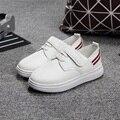 2016 Новых Детей Кожаные Ботинки Спортивная Обувь Мальчиков Весна Мода Повседневная Обувь Белый Черный Кроссовки Для Мальчиков
